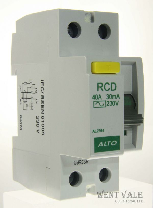 Alto AL2764 - 40a 30mA Type AC Double Pole RCD Un-used In Box